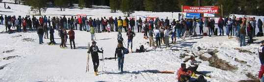 The Great Ski Race 2003 Finish Line, photo by Peter Sporleder