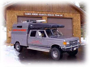 The Tahoe Nordic Seach & Rescue Garage and Truck, in Tahoe City